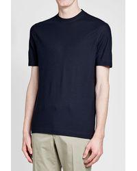 Zanone - Blue Cotton T-shirt for Men - Lyst