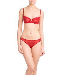 La Perla - Red Lace Bra - Lyst