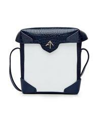 MANU Atelier - Blue Mini Pristine Leather Shoulder Bag - Lyst