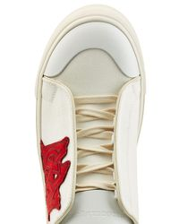 Alexander McQueen - Multicolor Leather And Canvas Sneakers for Men - Lyst