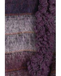 Anna Sui - Purple Wool Cardigan - Lyst