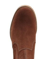 A.P.C. - Brown Suede Ankle Boots - Lyst