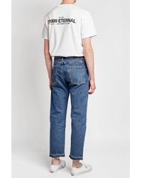 Levi's - Blue Straight Cropped Jeans for Men - Lyst