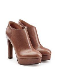 L'Autre Chose - Multicolor Leather Platform Ankle Boots - Lyst