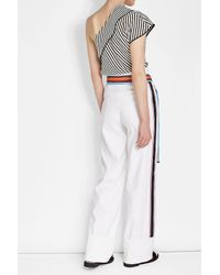 Diane von Furstenberg - Multicolor High-waisted Pants With Linen - Lyst