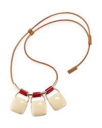 Marni - Metallic Triple Pendant Necklace - Multicolor - Lyst