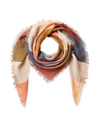 Closed | Blue Cashmere-blend Printed Scarf - Multicolor | Lyst