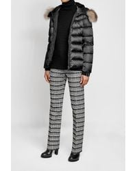 Moncler - Multicolor Quilted Down Jacket With Fur-trimmed Hood - Lyst