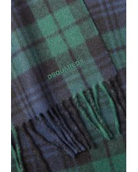 DSquared² - Wool-angora Blackwatch Plaid Scarf - Multicolor for Men - Lyst