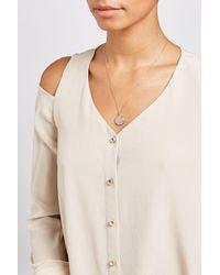 Aurelie Bidermann - 18kt Yellow Gold Baby Chivor Necklace With Sapphires - Lyst