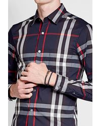 Tod's | Blue Braided Leather Wrap Bracelet for Men | Lyst