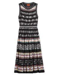 Missoni - Black Plissé Cotton Blend Dress - Lyst