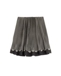 Anna Sui - Black Polka Dot Silk Skirt - Lyst