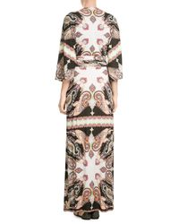 Etro | Pink Printed Maxi Dress | Lyst