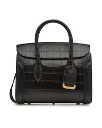 Alexander McQueen - Black Heroine Leather Shopper - Lyst