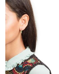 Ileana Makri - Metallic 18k Yelow Gold Earrings With Green Sapphires - Lyst