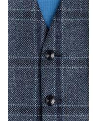 Etro   Blue Plaid Vest for Men   Lyst