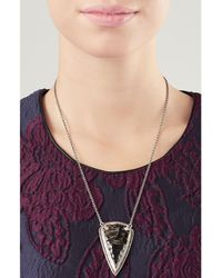 Pamela Love - Metallic Pave Arrowhead Pendant Necklace - Lyst