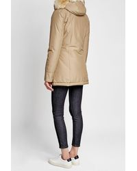Woolrich - Natural Arctic Down Parka With Fur-trimmed Hood - Lyst
