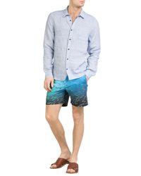 Orlebar Brown - Blue Bulldog Hulton Printed Slim Swim Shorts for Men - Lyst