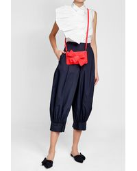 Delpozo - Red Bow Leather Clutch - Lyst