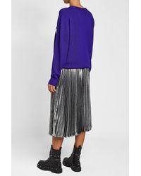 Christopher Kane - Multicolor Pleated Silk Skirt - Lyst