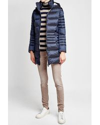 Colmar - Blue Quilted Down Jacket With Hood - Lyst