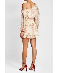 Zimmermann - Multicolor Printed Silk Chiffon Dress - Lyst