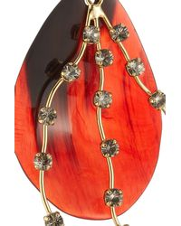 Marni - Red Embellished Earrings With Horn - Lyst