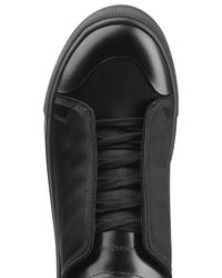 Alexander McQueen - Black Canvas And Leather Sneakers for Men - Lyst