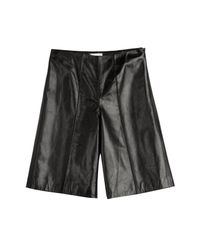 RED Valentino - Black Leather Culottes - Lyst