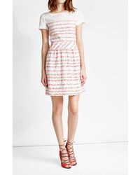Boutique Moschino - Multicolor Dress With Bouclé Skirt - Lyst