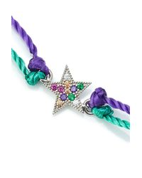 Marc Jacobs - Blue Friendship Bracelet With Embellished Charm - Lyst