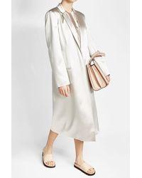 CALVIN KLEIN 205W39NYC - White Satin Coat - Lyst
