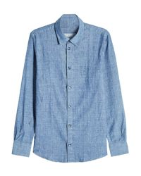 A.P.C. - Blue Chambray Shirt for Men - Lyst
