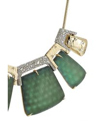Alexis Bittar - Metallic Rocky 10kt Gold Necklace With Lucite, Crystals And Rhodium - Lyst