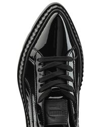 PUMA - Black Patent Leather Platform Creepers - Lyst