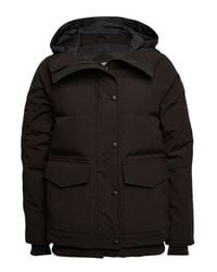 Canada Goose - Black Deep Cove Down Filled Bomber Jacket With Hood - Lyst