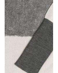 Rag & Bone - Gray Colorblock Wool Pullover - Lyst