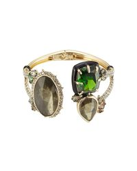 Alexis Bittar - Green Open Front Cuff With Crystals for Men - Lyst