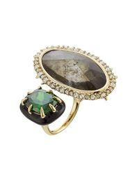 Alexis Bittar - Multicolor Cocktail Ring With Crystals - Lyst