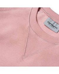 Carhartt - Pink Wip Chase Sweatshirt for Men - Lyst