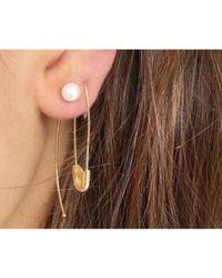 Loren Stewart | Metallic Pearl Hook Earring, Single | Lyst
