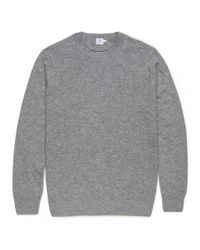 Sunspel | Gray Men's Cashmere Sweatshirt In Grey Melange for Men | Lyst