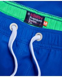 Superdry - Blue Premium Water Polo Shorts for Men - Lyst