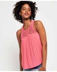 Superdry - Pink Alivia Knot Tank Top - Lyst