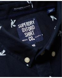 Superdry - Blue Vacation Oxford Shirt for Men - Lyst