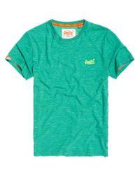 Superdry - Green Nue Wave Fleck T-shirt for Men - Lyst