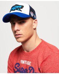 Superdry - Blue Bolt Trucker Cap for Men - Lyst