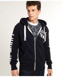 Superdry | Blue Track & Field Zip Hoodie for Men | Lyst